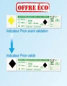 Indicateurs physico-chimiques Prion  boîte de 250 unités