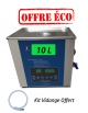 Bac Nettoyeur Ultrasons Digital avec vidange et fonction Sweep - 10 Litres