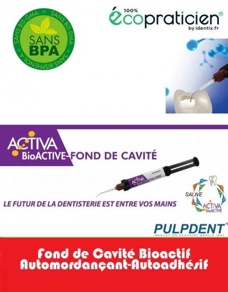 ACTIVA BIOACTIVE Fond de Cavité Activia BioActive  seringue de 5ml/7gm et 20 embouts directionnels .