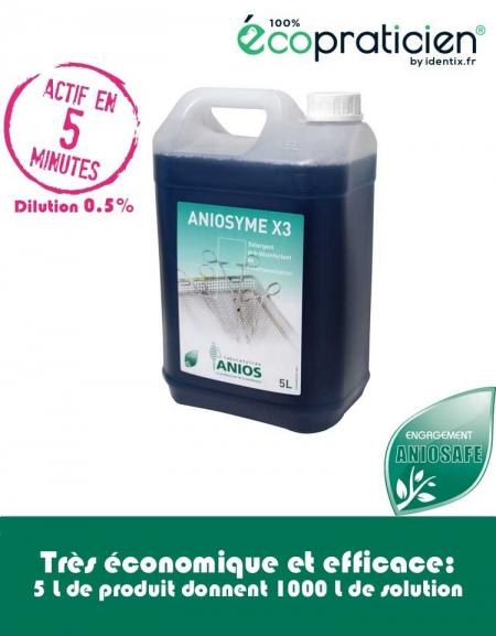 Nettoyant  Pré-Désinfectant  instruments Aniosyme X3 à 0.5%