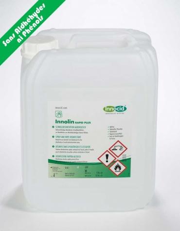 Nettoyant Désinfectant Rapide  Surfaces INNOLIN Rapid Plus Bidon 5 L(ancien nom SURFSPRAY  RSD-i70)