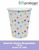 Carton 1000 gobelets carton recyclables à motifs
