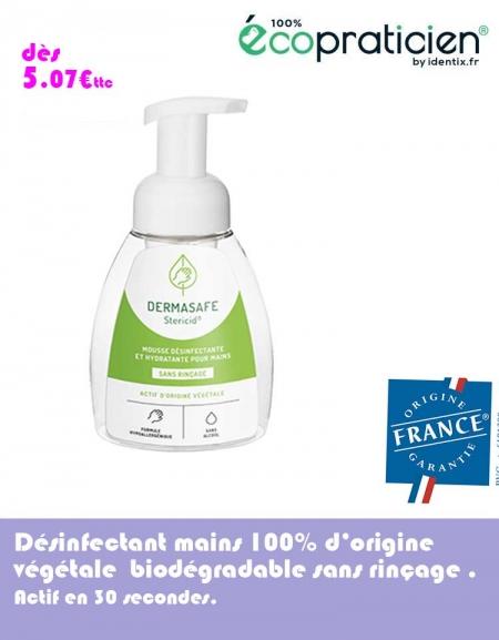 Mousse désinfectante mains sans alcool DERMASAFE 250 ml