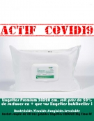Lingettes Stretch 30X20 INNOLIN Big Flow AF-Actives sur Coronavirus- Désinfection Nettoyage   :sachet 80 lingettes