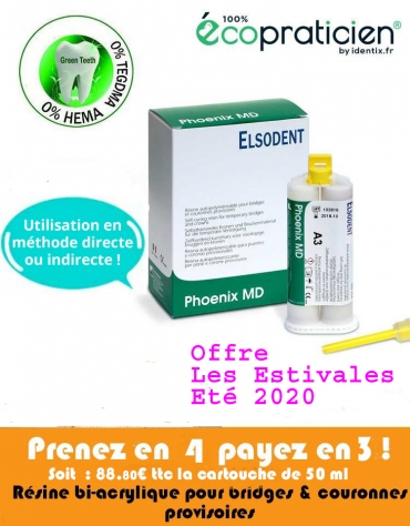 PHOENIX MD Cartouche 50ml + 10 embouts mélangeurs et 10 embouts mélangeurs