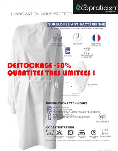 Surblouse Lavable Tissu antibactérien (Pack de 5)